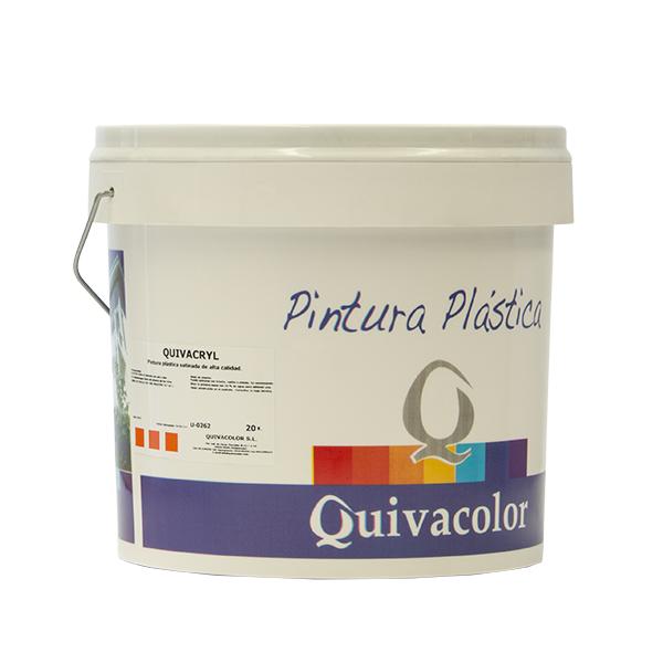 Quivacryl pintura pl stica satinada alta calidad para - Pintura plastica satinada ...